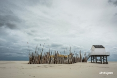 Huisje op strand, Vlieland