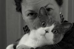 Fotograaf Inge Pfeil, Zelfportret met Paco